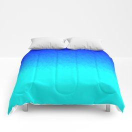 Electric Blue Ombre flames / Light Blue to Dark Blue Comforters