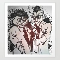 muppets Art Prints featuring Boondock Muppets by Justin Rochelle