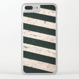 ROAD WORK Clear iPhone Case