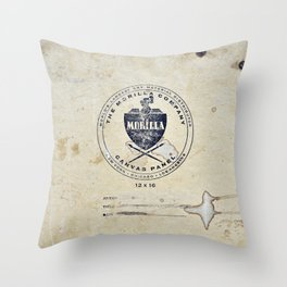 Vintage Canvas Back Throw Pillow