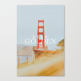 Stay Golden - Typography on Photography Canvas Print