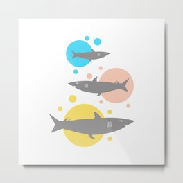 Shark #society6 #decor #buyart #artprint Metal Print