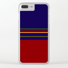 Bold Rainbow Stripe Design Clear iPhone Case