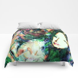NUDE BELLY DANCER WITH LADY KASHMIR ART PRINT PHOTOGRAPHY PAINTING  Comforters