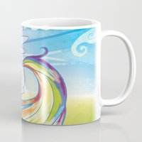 mlp Mugs featuring Rainbow Dash - MLP by mmishee