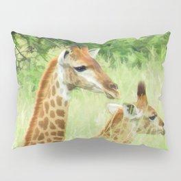 Baby giraffes in natures nursery Pillow Sham