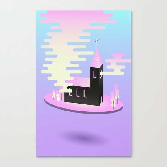 Smoky church Canvas Print