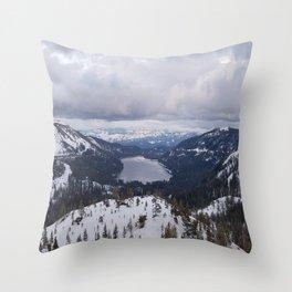 Snowy Horizon Throw Pillow