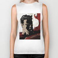 man of steel Biker Tanks featuring MAN OF STEEL by Taylor Callery Illustration
