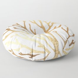 Gold Coral Floor Pillow