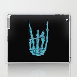 Rock On Skeleton Hand - Blue Laptop & iPad Skin