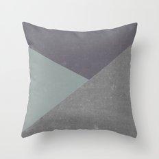 Concrete & Triangles Throw Pillow