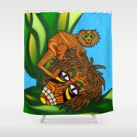 jojo Shower Curtains featuring Congo JoJo by BohemianBound