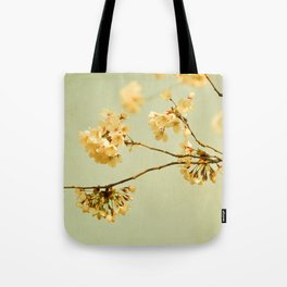 vintage cherry blossoms Tote Bag