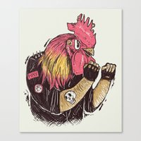 cook Canvas Prints featuring Cook-a-doodle Punk by Alejandro Giraldo