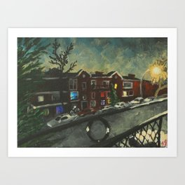 Bloomfield at Night Art Print