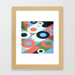 Circles and stairs Framed Art Print