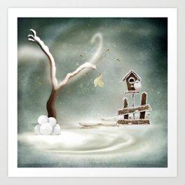 Winter Season Art Print