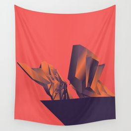 Futuristic Monuments Of Old Yugoslavia Wall Tapestry