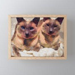 Siamese if you please Framed Mini Art Print