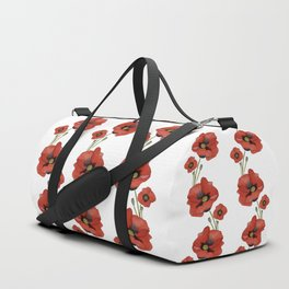 Watercolour Poppies Duffle Bag