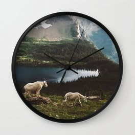 A Walk With The Mountain Goats Wall Clock