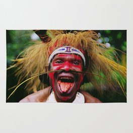Eating a Betel Nut in Papua New Guinea Rug