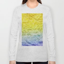 Crumpled Paper Textures Colorful P 917 Long Sleeve T-shirt