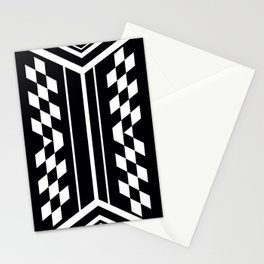 Black and White Symmetrical Stationery Cards