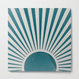 Blue retro sunlight Metal Print
