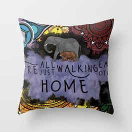 Walking Each Other Home Throw Pillow