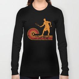 Retro Style Tennis Player Vintage Long Sleeve T-shirt
