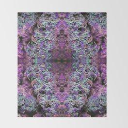Purple Light Nugs Royal Stain Throw Blanket