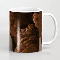 destiel Mugs featuring Destiel. Holy Hell by Armellin