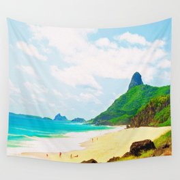 Morro do Pico Painting View Wall Tapestry