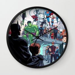 You'll Be Safe Here Wall Clock