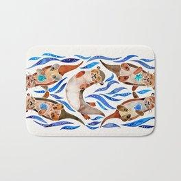 Five Otters – Blue Palette Bath Mat