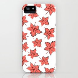 Maple leaves red iPhone Case