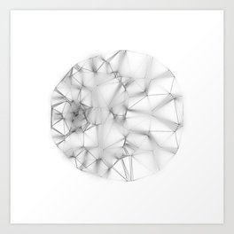 Wireframe Composition No. 30 Art Print