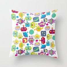boy-bots Throw Pillow