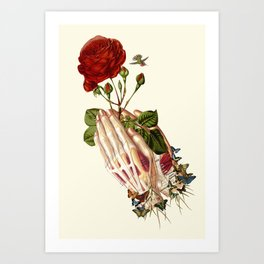"""""""Forgiven"""" anatomical collage art by Bedelgeuse Art Print"""
