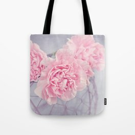 Pale Pink Carnations Tote Bag