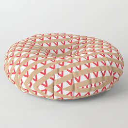 Paranoia (Tan and Red) Floor Pillow