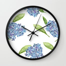 hydrangea in bloom Wall Clock