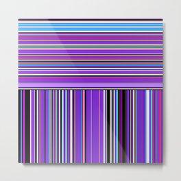 Re-Created Lines & Stripes 7 by Robert S. Lee Metal Print