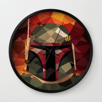 boba Wall Clocks featuring Boba Fett by Eric Dufresne