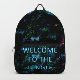 Welcome to the Jungle - Neon Typography Backpack