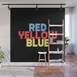 Red Yellow Blue Wall Mural