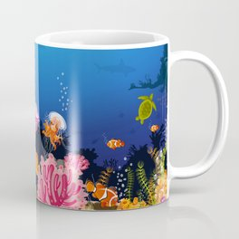 Beautiful Coral Reef Animals Coffee Mug