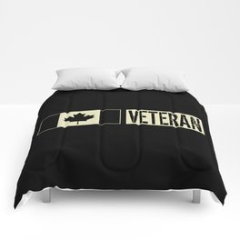 Canadian Military: Veteran (Black Flag) Comforters
